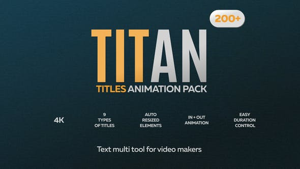 Videohive Titan Titles Animation Pack 24660256