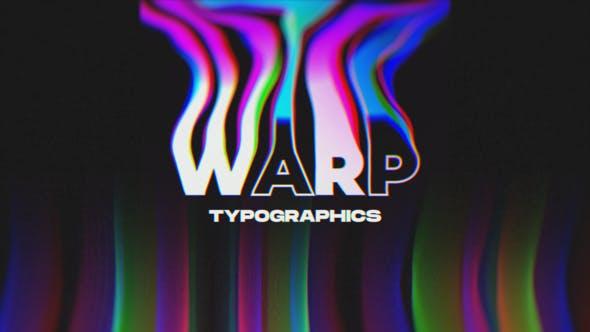Videohive Warp Typographics 24512046