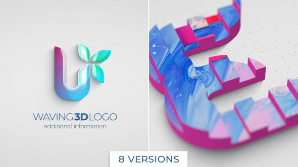 Videohive Waving 3D Logo Reveal 26049113