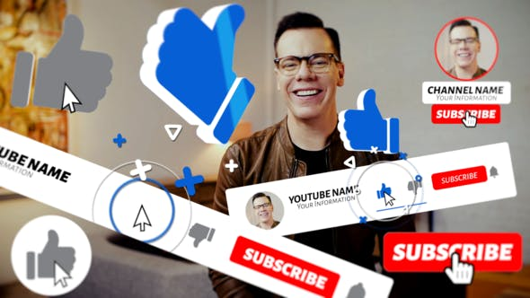 Videohive Youtube Subscribe Pack 2 23882152