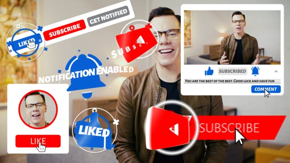 Videohive Youtube Subscribe Pack 4 24319080