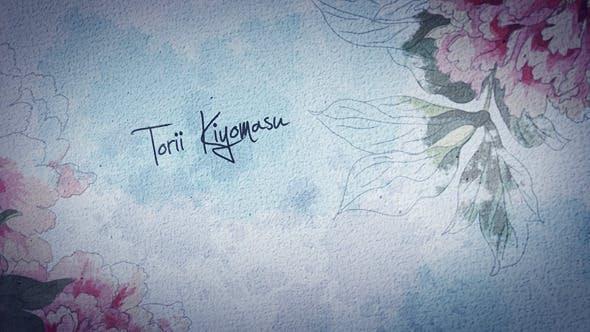 Videohive Japanese Ink Flower Movie Titles 8566986