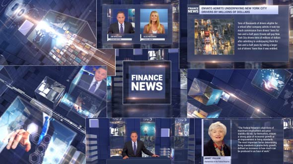 Videohive Finance News Broadcast Package 20088180