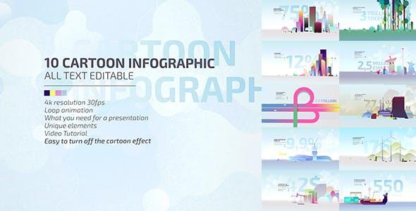 Videohive 10 Cartoon Infographic 20671923