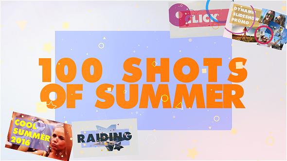 Videohive 100 Shots of Summer Slideshow 17831020