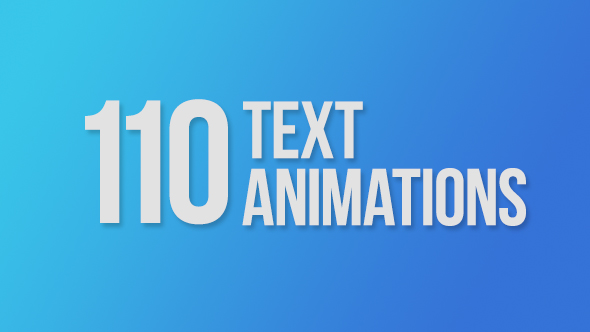 Videohive 110 Text Animations 9358175