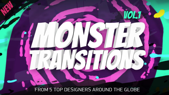 Videohive 125 Monster Transitions 19696211
