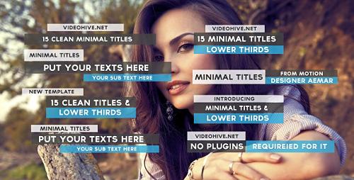 Videohive 15 Clean Minimal Titles