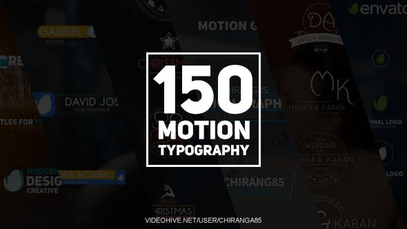 Videohive 150 Motion Typography 20949185