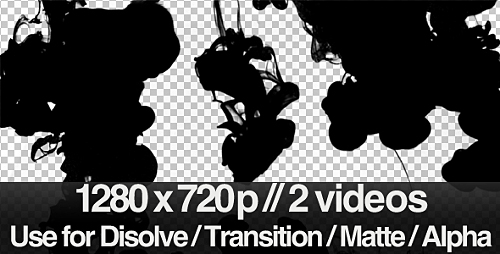 Videohive 2 Ink Flowing in Water Transition  Matte  Mask