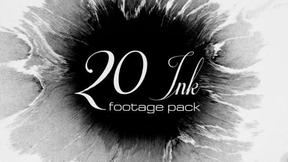 Videohive 20 Ink footage pack 9863249