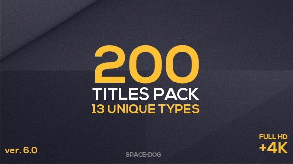 Videohive 200 Titles Pack 16917604