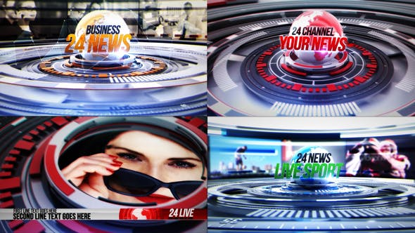 Videohive 24 World News Complete Broadcast Package 24955486