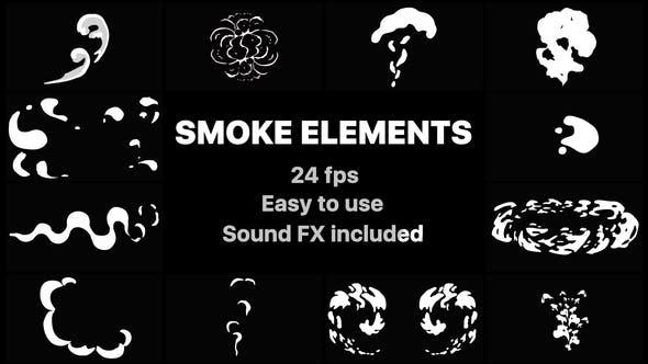 Videohive 2D FX Smoke Elements 21795682