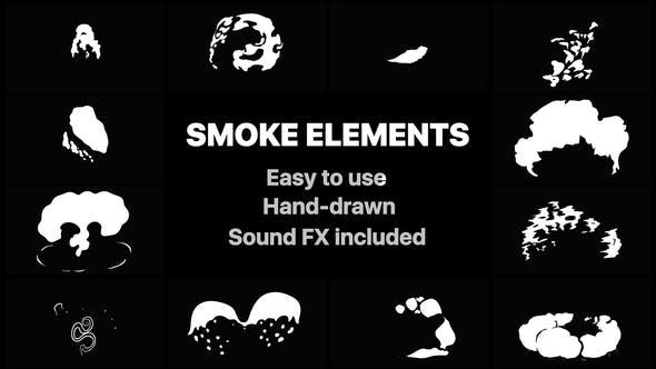 Videohive 2DFX Smoke Elements 22721115