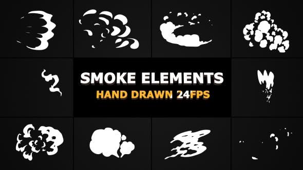 Videohive 2d FX SMOKE Elements 21241759