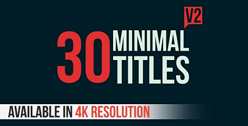 Videohive 30 Minimal Titles V2