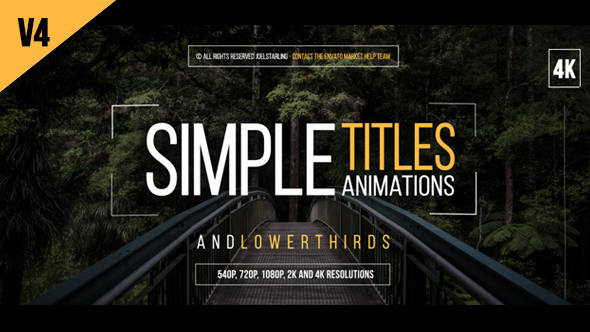 Videohive 30 Simple Titles v4.5 14507047