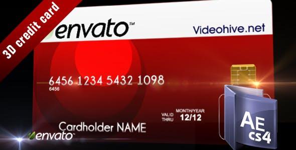 Videohive 3D Credit Card 103825