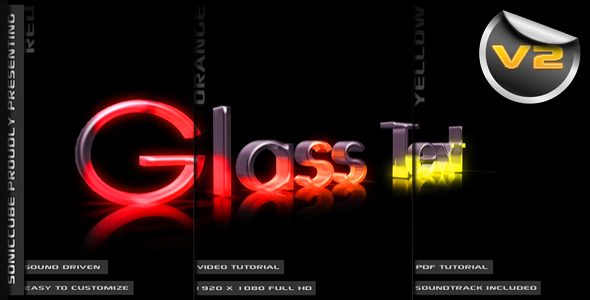 Videohive 3D Crystal GlassText 147059
