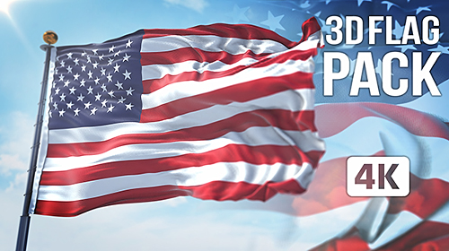 Videohive 3D Flag Collection 20317622