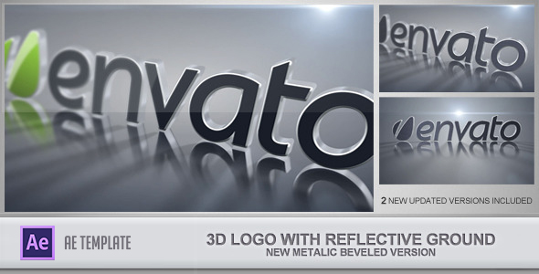 Videohive 3D Logo With Reflective Ground 2507839
