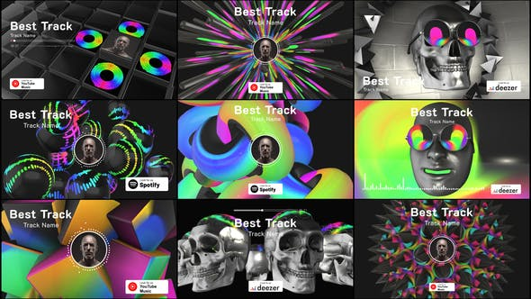 Videohive 3D Music Visualizer 25233406