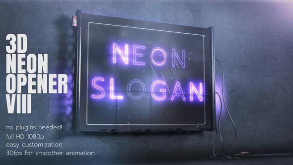 Videohive 3D Neon Opener 3 27761343