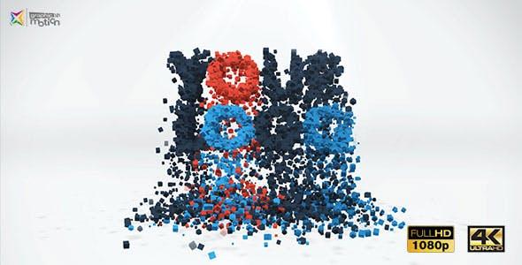 Videohive 3D Particles Logo Build Break 19397614
