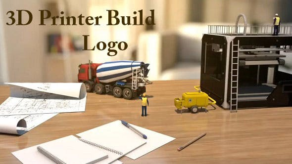Videohive 3D Printer Build Logo 20419455