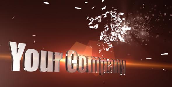 Videohive 3D Shatter logo.155939