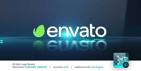 Videohive 3D Spin Logo Reveal 400753