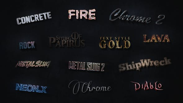Videohive 3D Text Styles Cinematic Trailer ToolKit 16535554