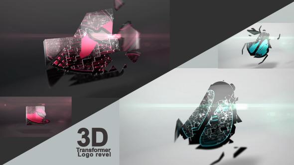Videohive 3D Transformer Logo Reveal