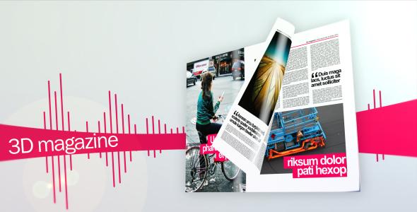 Videohive 3D magazine 86464