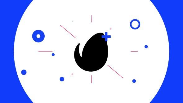 Videohive 4K - Flat Glitch Logo Opener 17887948