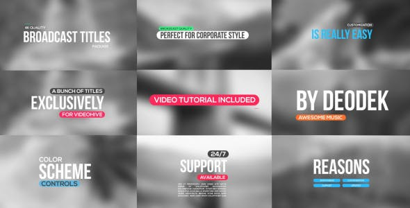 Videohive 4k Titles Package 17711580