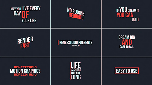 Videohive 50 Animated Titles