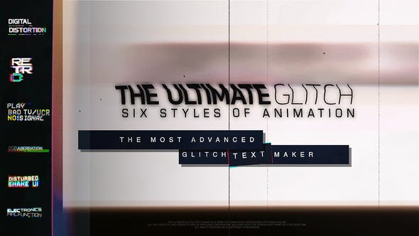 Videohive 70 Glitch Title Animation Presets Pack Glitch Text Maker 23110607