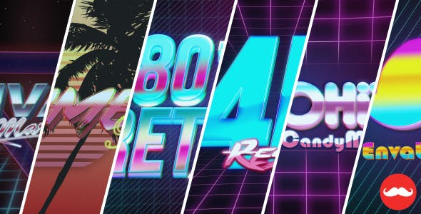Videohive 80s VHS Logo Title Intro Pack 13046799