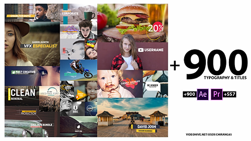 Videohive 900 Typography Titles 22373301