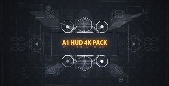 Videohive A1 HUD 4K PACK 12333339