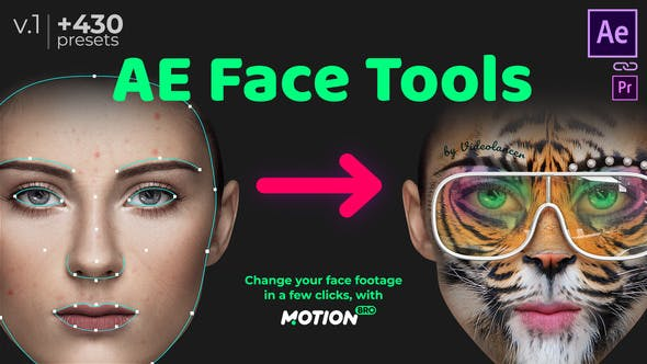 Videohive AE Face Tools 24958166