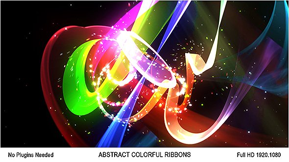 Videohive Abstract Colorful Ribbons Logo 18597351