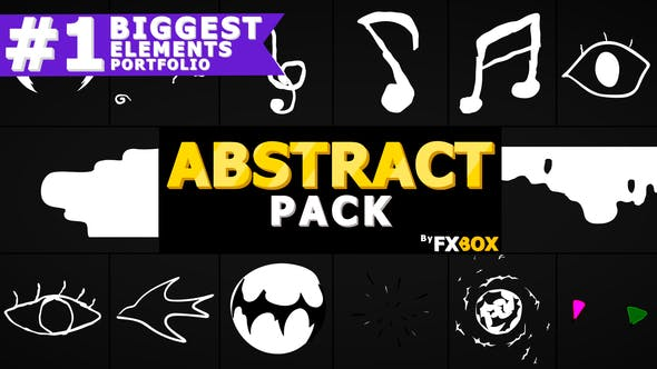 Videohive Abstract Elements And Transitions 23313784