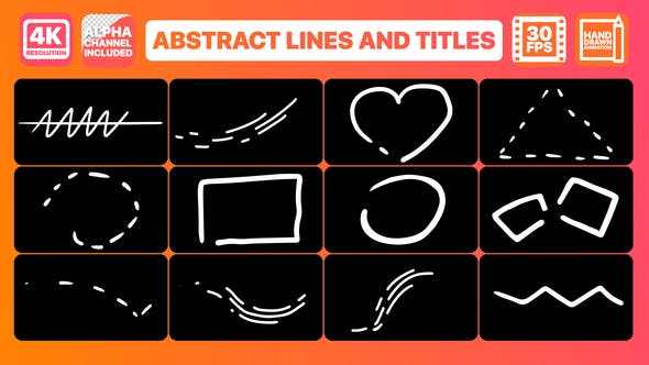 Videohive Abstract Lines And Titles 23252773