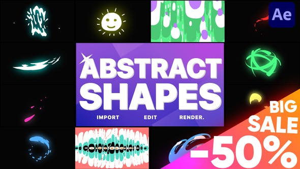 Videohive Abstract Liquid Shapes 28961361