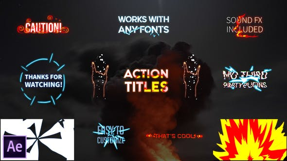 Videohive Action Titles Pack 28207007