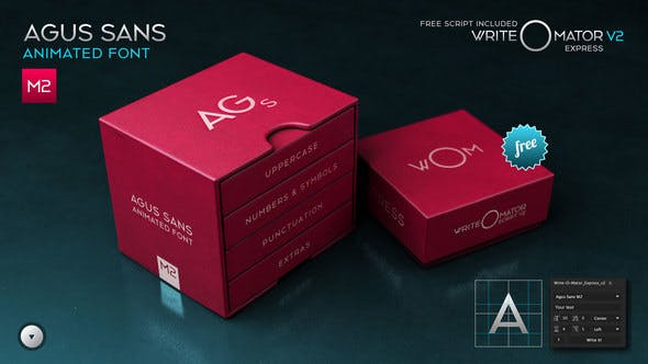 Videohive Agus Sans M2 - Animated Font 20579787