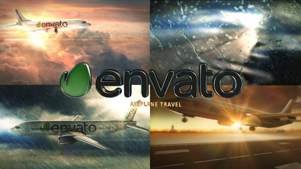 Videohive Airplane Travel 19887245
